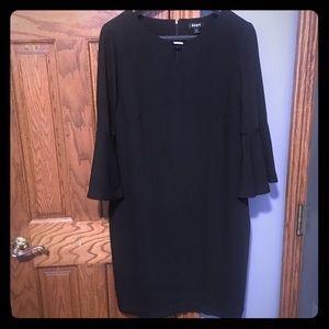 Dkny Black bell sleeve dress